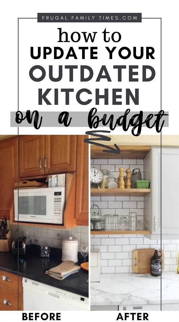 Oak Kitchen Update On A Budget, How Do You Modernize Old Kitchen Cabinets