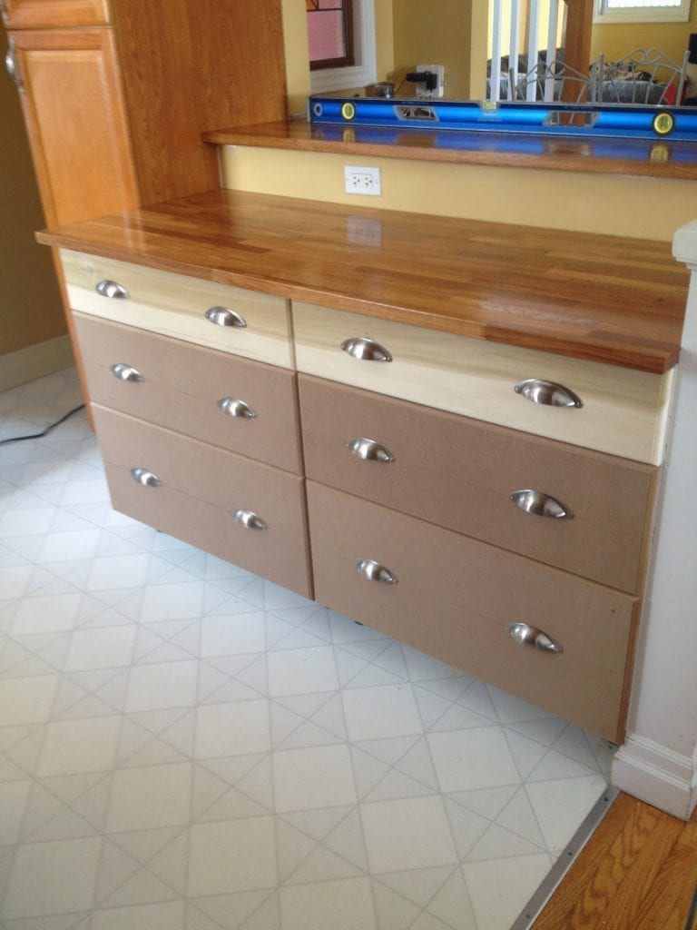 How to cut down the depth of a base cabinet - to hack in ...