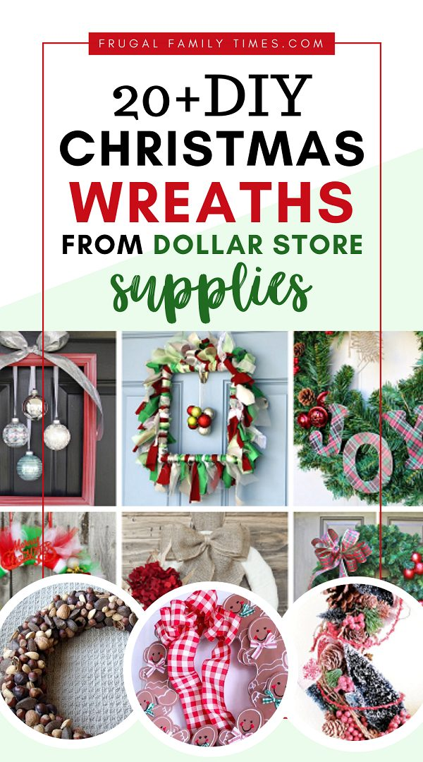 20 Diy Christmas Wreaths Made From Dollar Store Supplies Frugal Family Times