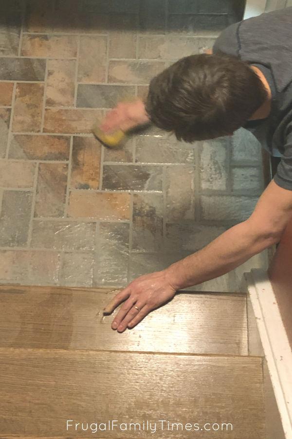 Mudroom Flooring Diy Brick Tile Floor, Brick Laminate Flooring